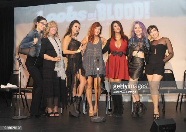 Scream Queens Asun Ortega Beverly Randolph Christine Nguyen Holly Fields Max Wasa Elissa Dowling and Naomi Grossman attend the Scream QueenAthon...