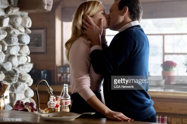 "Scream Therapy"" Episode 205 -- Pictured: Rachel Keller as Linda Kolkena, Christian Slater as Dan Broderick --"