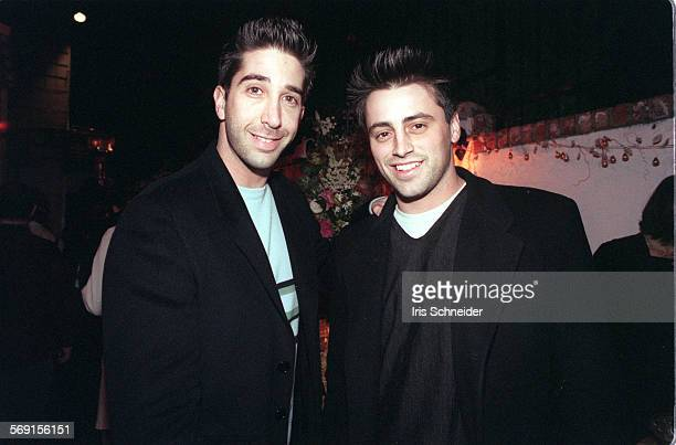 LSScream#2IS12/18David Schwimmer and Matt LeBlanc of the cast of 'Friends' at the party after the premiere of Wes Craven' s 'Scream' Wed night Photo...