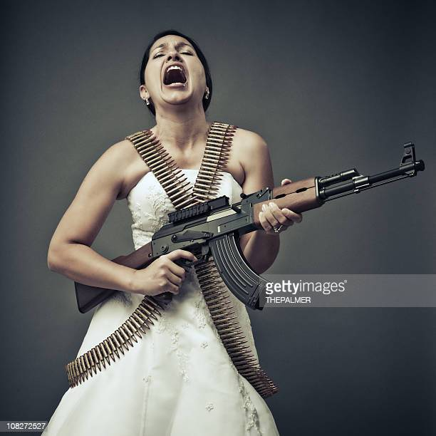 screaming bride with an ak-47