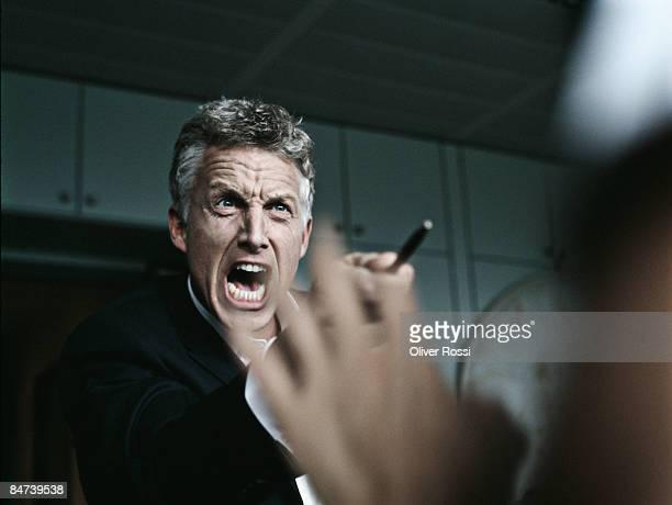 screaming business man - wut stock-fotos und bilder