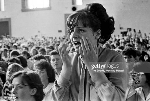 Screaming fans at the Rolling Stones matinee concert at the Sydney Showground January 23 1965