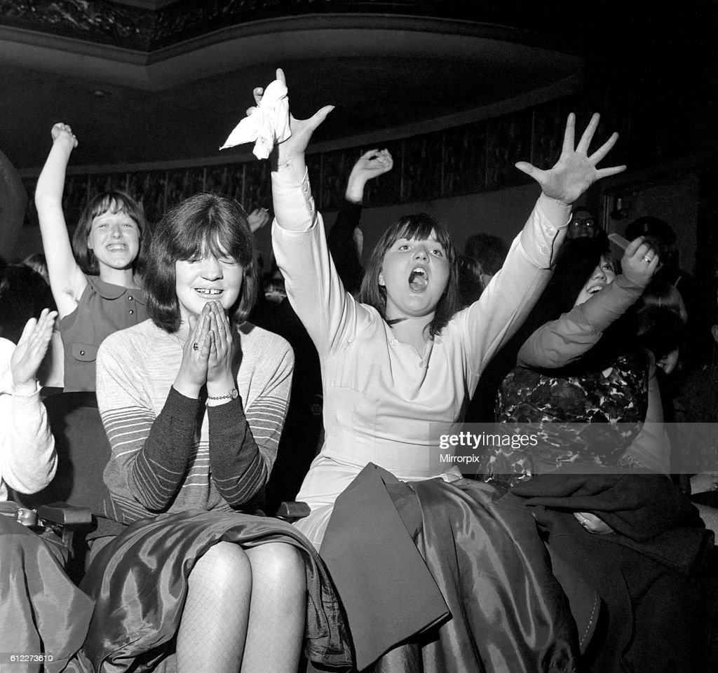 Screaming Girl Fans Greet The Beatles On Their Appearance At The Abc
