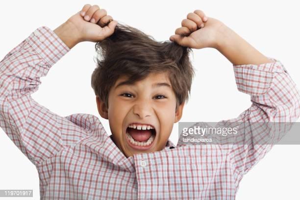 Screaming Hispanic boy