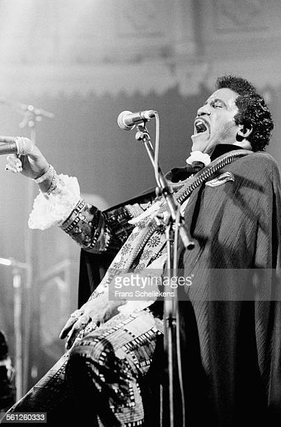 Screaming Jay Hawkins, vocals and piano, performs on November 8th 1993 at the Paradiso in Amsterdam, Netherlands.