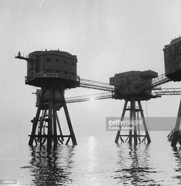 Screaming Lord Sutch's pirate radio station located just off the Kent Coast
