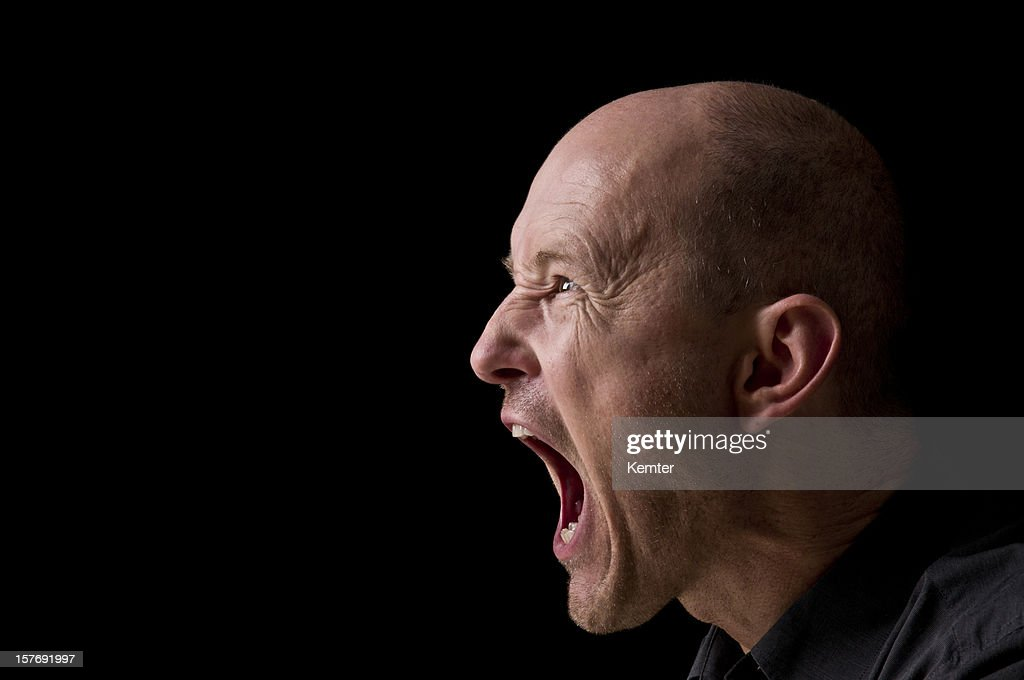 screaming man : Stock Photo