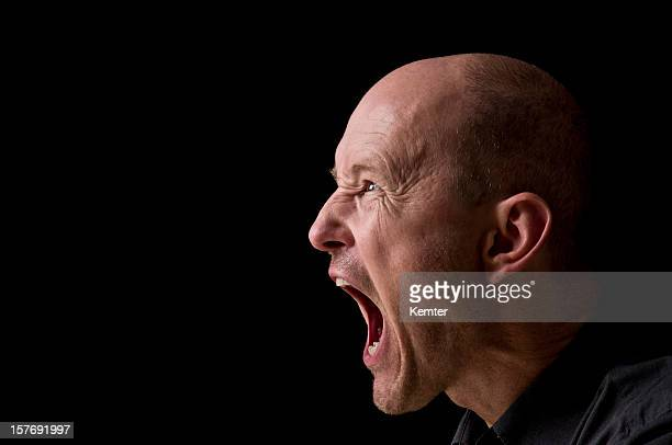 screaming man - shouting stock photos and pictures