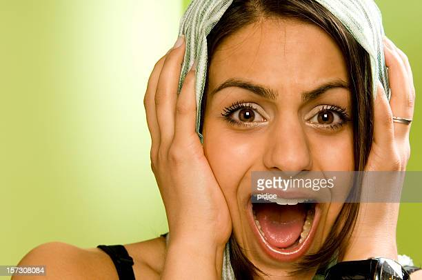 screaming moslem woman - insulting islam stock pictures, royalty-free photos & images