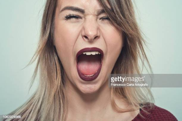 screaming - shouting stock photos and pictures