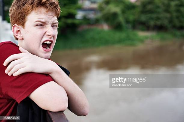 Screaming Teen Boy