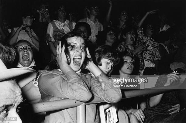 Screaming teenage Beatles fans in America