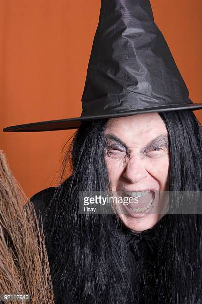 screaming witch - ugly witches stock photos and pictures