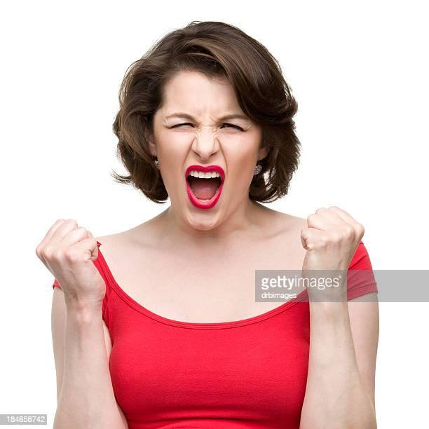 Screaming 女性シェイク・フィスト
