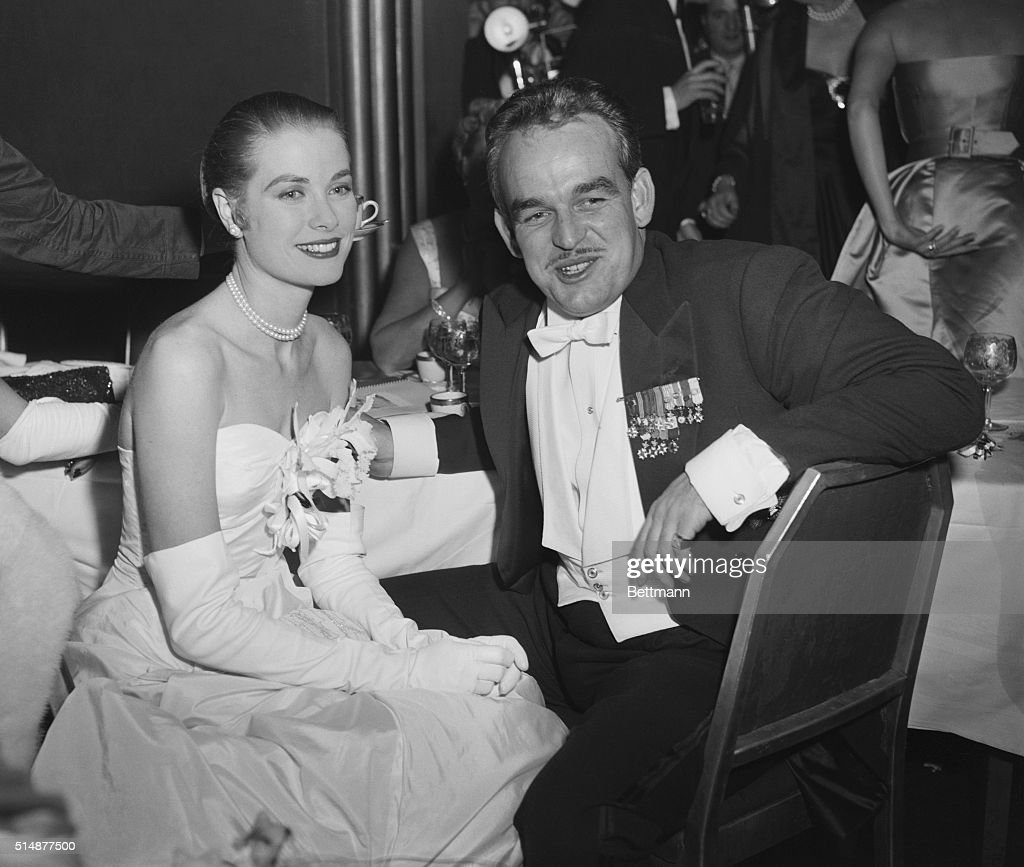 Screen Actress Grace Kelly And Her Husband To Be Prince