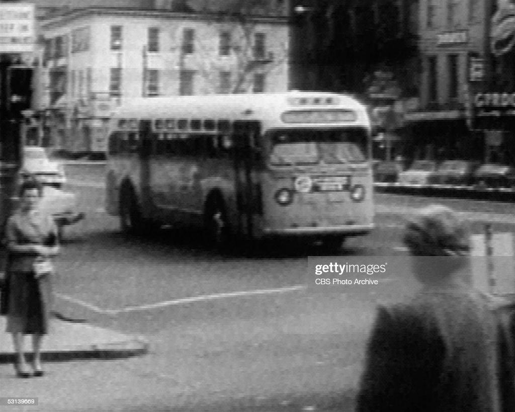Bus In Montgomery, Alabama : News Photo