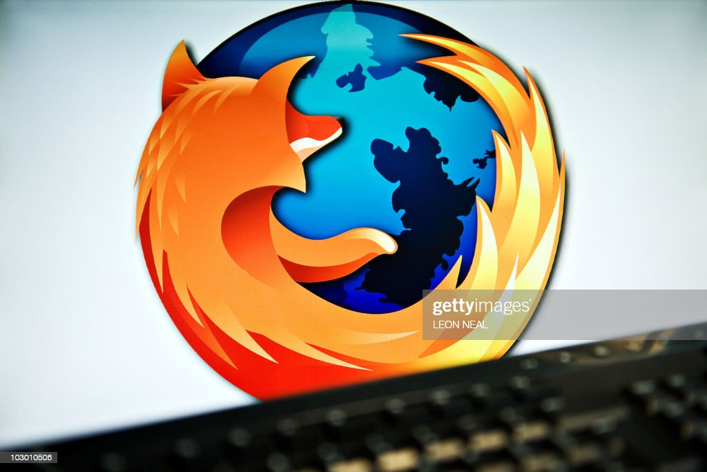 A screen displays the logo of the open-source web browser Firefox on July 31, 2009, in London, as the software edges towards it's billionth download within the next twenty four hours. First released in 2004, the browser currently holds around 31 % of the market share with Microsoft's Internet Explorer dominating the field with 60 %. AFP PHOTO/Leon Neal