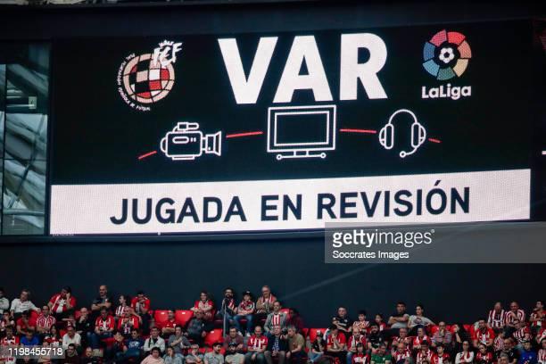 Screen during the La Liga Santander match between Athletic de Bilbao v Getafe at the Estadio San Mames on February 2, 2020 in Bilbao Spain