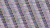 GLITCH - TV screen full of scanlines, noise and diagonal interference