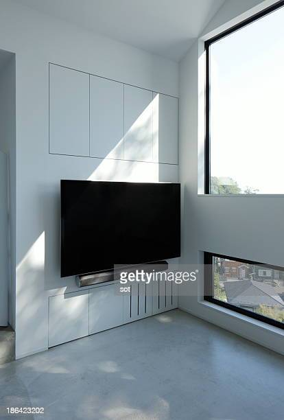 TV screen in living room