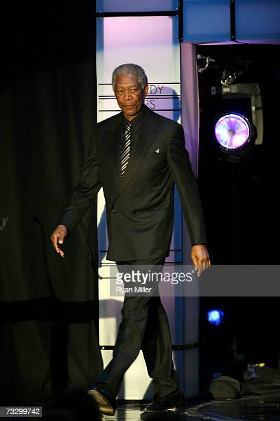 Screen Laurel Award Presenter Morgan Freeman at the 2007 Writers Guild Awards held at the Hyatt Regency Century Plaza Hotel on February 11 2007 in...