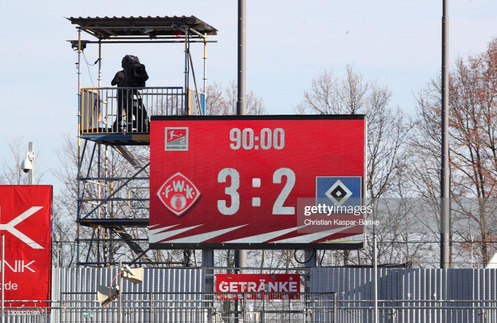 FC Würzburger Kickers v Hamburger SV - Second Bundesliga : Nachrichtenfoto
