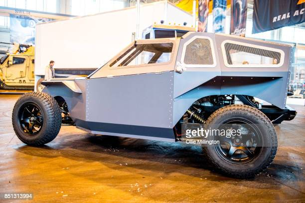 A screen used Deckard Shaw Fast Attack Buggy from The Fate of The Furious seen during the 'Fast Furious Live' media launch day event which featured...