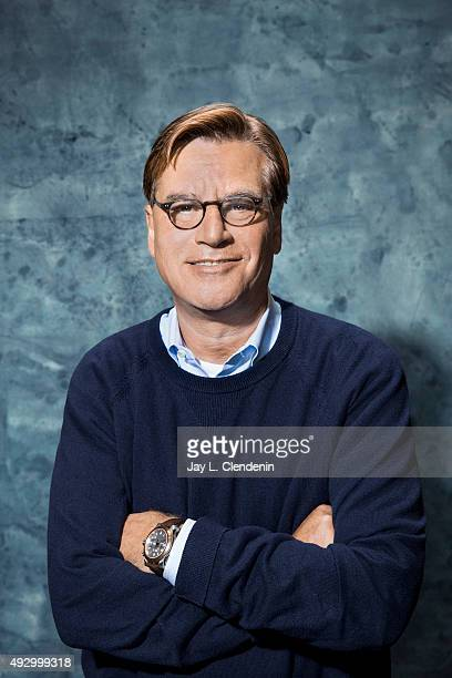 Screen writer and producer Aaron Sorkin is photographed for Los Angeles Times on September 30 2015 in Los Angeles California PUBLISHED IMAGE CREDIT...