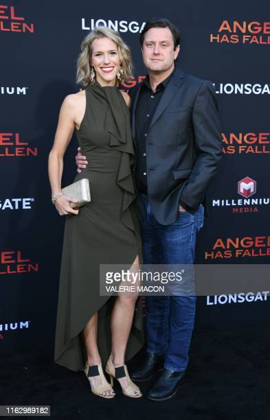 Screen writer Matt Cook and guest arrive for the Los Angeles premiere of Angel Has Fallen at the Regency Village theatre on August 20 2019 in...