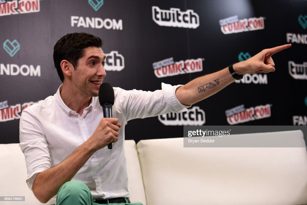 Screen writer Max Landis at the FANDOM Fest during New York Comic Con on October 6, 2017 in New York City.