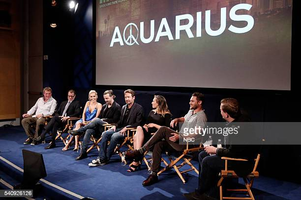 AQUARIUS Screening and Panel Discussion at the Paley Center June 16 2016 Pictured Marty Adelstein Executive Producer John McNamara Executive Producer...
