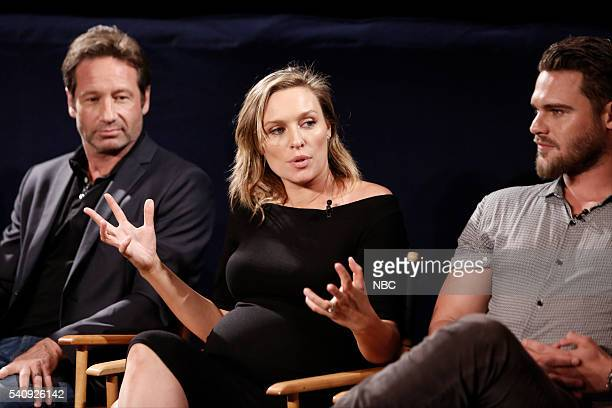 AQUARIUS Screening and Panel Discussion at the Paley Center June 16 2016 Pictured David Duchovny Michaela McManus Grey Damon