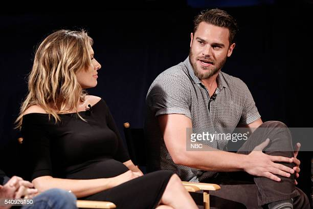 AQUARIUS Screening and Panel Discussion at the Paley Center June 16 2016 Pictured Michaela McManus Grey Damon