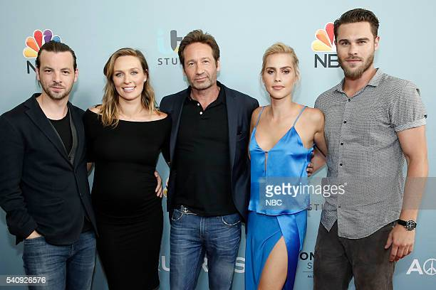 Screening and Panel Discussion at the Paley Center, June 16, 2016 -- Pictured: Gethin Anthony, Michaela McManus, David Duchovny, Claire Holt, Grey...