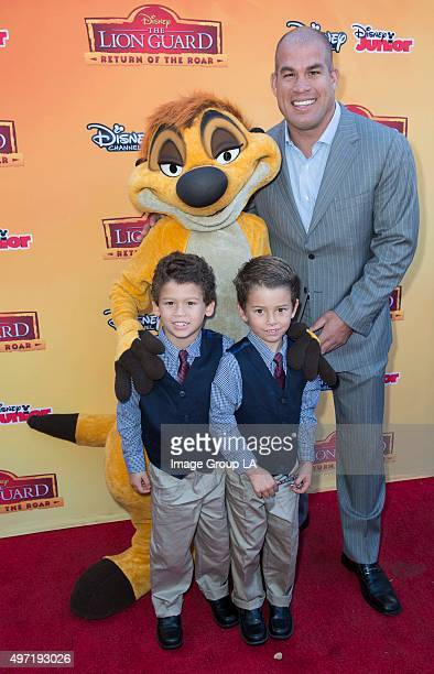 Screening Event Celebrities and their kids attended a VIP premiere screening event for Disney's 'The Lion Guard Return of the Roar' a primetime...