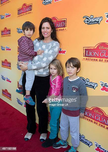 """Screening Event - Celebrities and their kids attended a VIP premiere screening event for Disney's """"The Lion Guard: Return of the Roar,"""" a primetime..."""