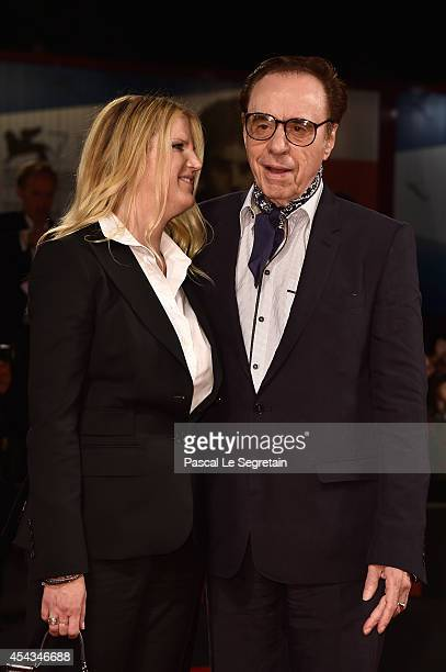 Screenplay Louise Stratten and director Peter Bogdanovich attend the 'She's Funny That Way' Premiere during the 71st Venice Film Festival on August...