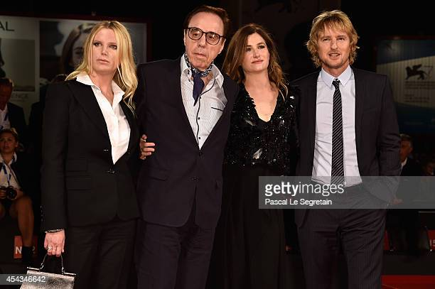 Screenplay Louise Stratten director Peter Bogdanovich actress Kathryn Hahn and actor Owen Wilson attend the 'She's Funny That Way' Premiere during...