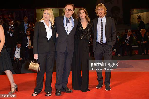 Screenplay Louise Stratten director Peter Bogdanovich actress Kathryn Hahn and actor Owen Wilson attends 'She's Funny That Way' Premiere during the...