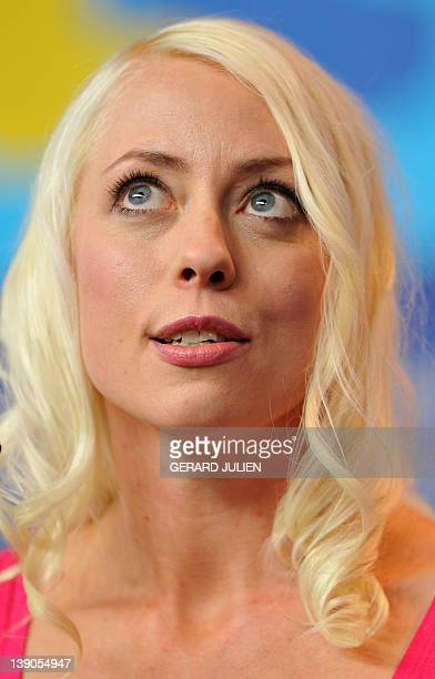 Screenplay writer and actress Lorelei Lee attends a press conference for the film Cherry presented at the International Film Festival Berlinale on...