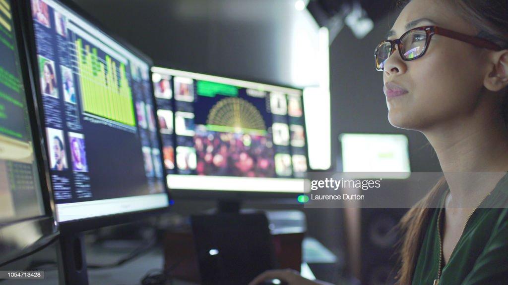 Schermen-ID-gegevens : Stockfoto