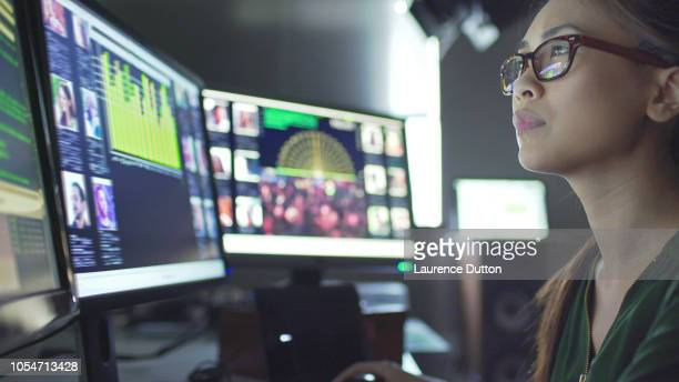 screens id data - surveillance stock pictures, royalty-free photos & images