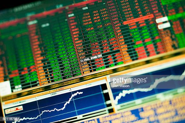 screenshot of stock and bond information - vintage stock stock pictures, royalty-free photos & images