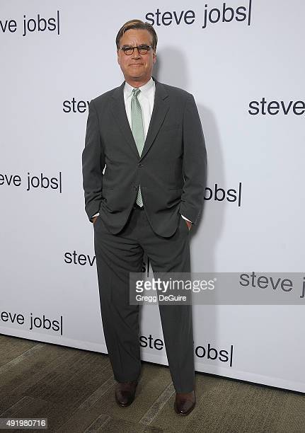 Screenwriter Aaron Sorkin arrives at the screening of Universal Pictures' 'Steve Jobs' on October 8 2015 in Los Angeles California