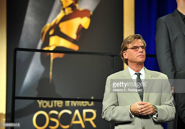 Screenwriter Aaron Sorkin attends the 83rd Academy Awards nominations luncheon held at the Beverly Hilton Hotel on February 7 2011 in Beverly Hills...