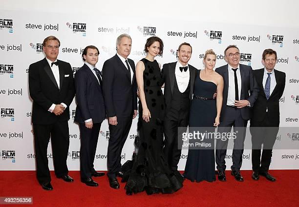 Screenwriter Aaron Sorkin Michael Stuhlbarg Jeff Daniels Katherine Waterston Michael Fassbender Kate Winslet director Danny Boyle and producer...