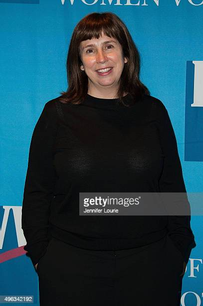 Screenwriter Abi Morgan attends the League of Women Voters of Los Angeles Celebrates 95 Years of Right To Vote at the Pacific Design Center on...