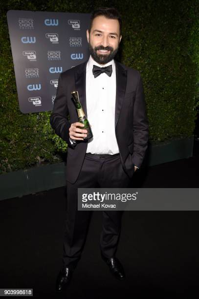Screenwriter Adrian Molina attends Moet Chandon celebrate The 23rd Annual Critics' Choice Awards at Barker Hangar on January 11 2018 in Santa Monica...