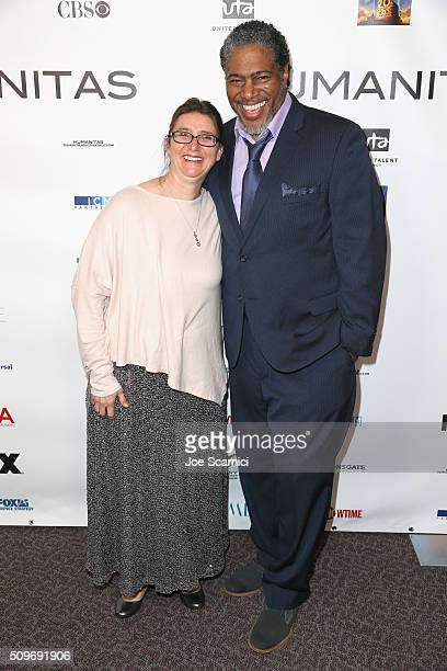 Screenwriter Aleta Barthell and President of the Humanitas Awards Ali LeRoi attend the 41st Humanitas Prize Awards Ceremony at Directors Guild Of...