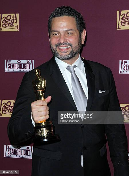 Screenwriter Alexander Dinelaris attends the 21st Century Fox and Fox Searchlight Oscar Party at BOA Steakhouse on February 22 2015 in West Hollywood...